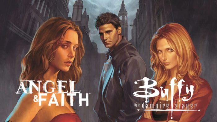 Buffy in her own comic book series and angel and faith star in their own