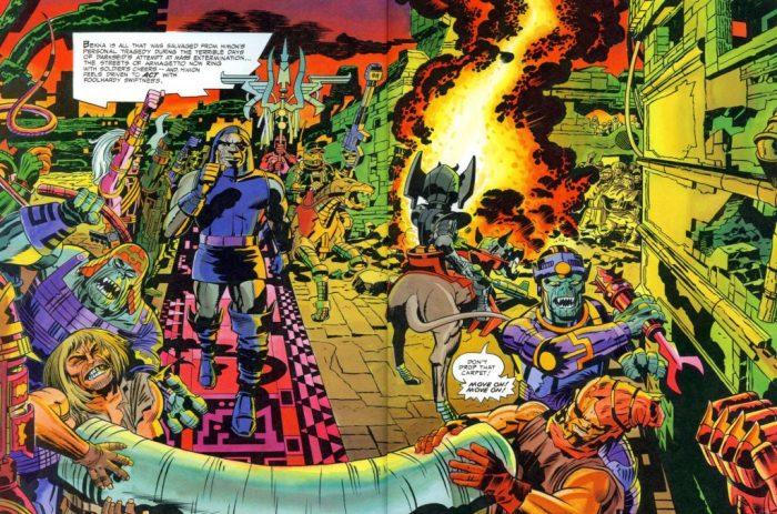Darkseid and Apokolips by Jack Kirby