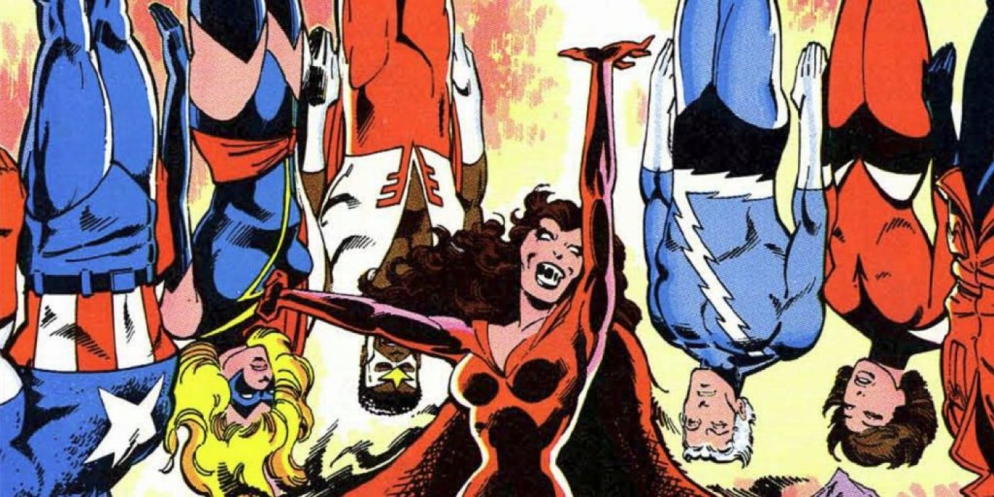Dark Scarlet Witch vs. the Avengers