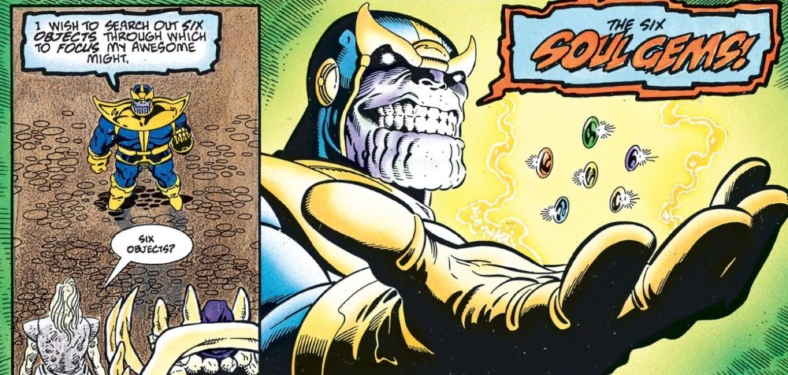 Thanos seeks the soul gems in Thanos Quest