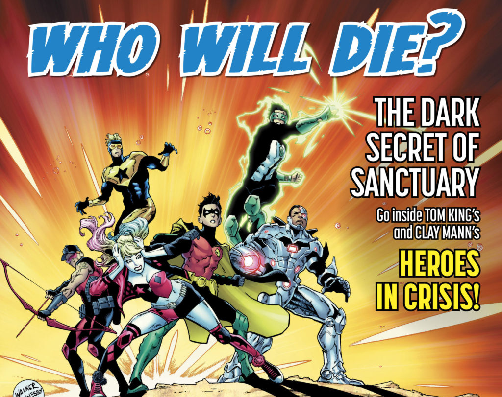 DC teases a hero's death in 2018 event comic