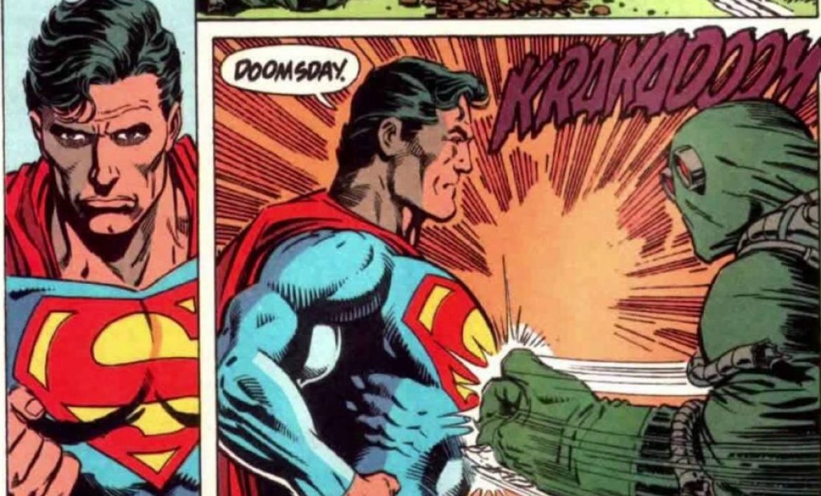 Superman takes on Doomsday for the first time in DC Comics