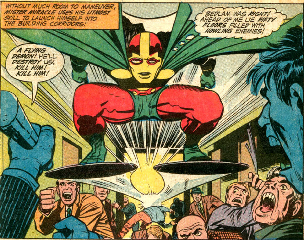 """Mister Miracle in the """"Paranoid Pill"""" comic book story by Jack Kirby"""