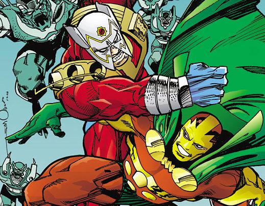 Mister Miracle tricks Orion during the Walt Simonson run