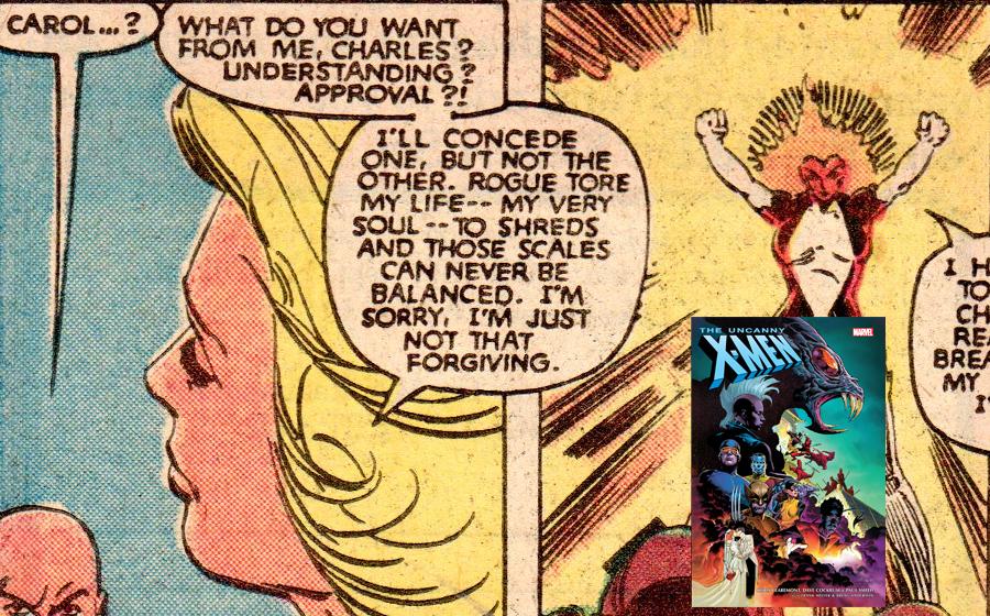 Carol Danvers with the X-Men