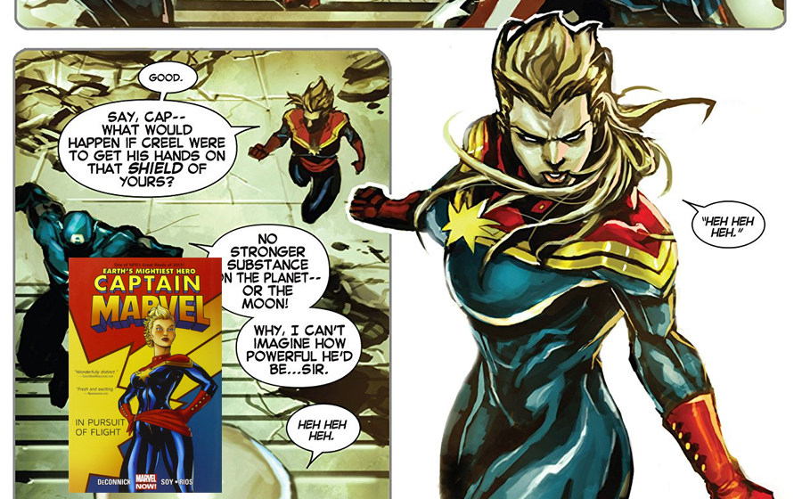 Carol Danvers become Captain Marvel
