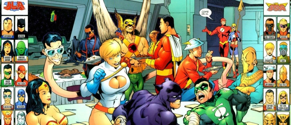 JSA and the Justice League celebrate Thanksgiving