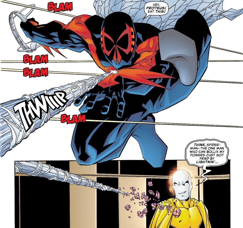 Spider-Man 2099 in the pages of Exiles