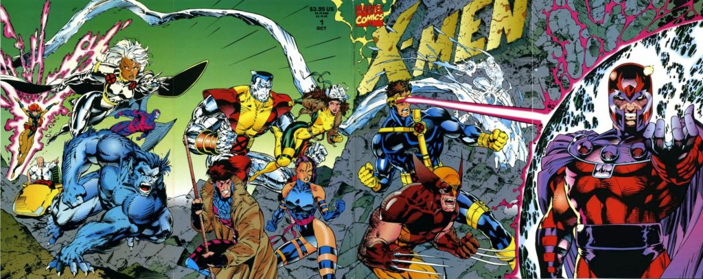 X-Men #1 cover by artist Jim Lee