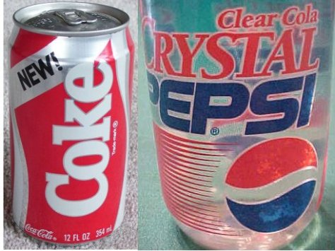 Image result for new coke crystal pepsi