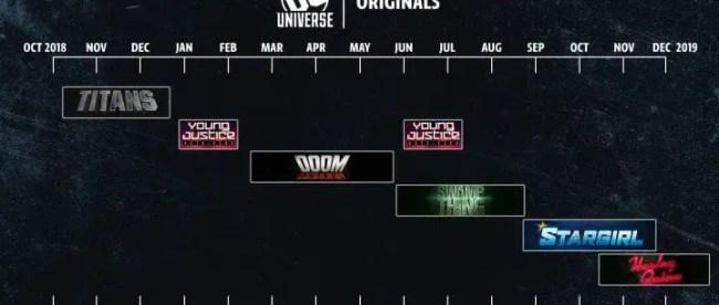 DC Universe TV Show Schedule