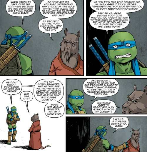 TMNT #91 Leonardo Confronts Master Splinter