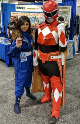 WonderCon 2019 Blue Ninja Power Ranger Red Sentry