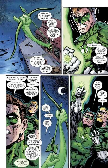The Green Lantern #8 Green Arrow Moment