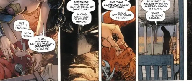 Heroes In Crisis Trinity Discover Mass Murder Scene