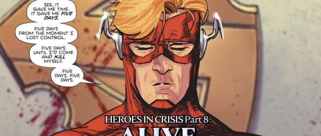 Heroes In Crisis Wally West Five Days