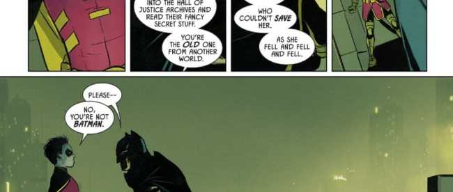 Batman #77: Robin Calls Out Flashpoint Batman
