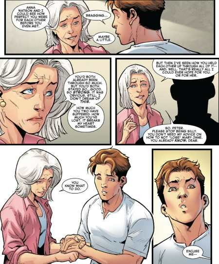Amazing Spider-Man 29 Aunt May Talks To Peter Parker