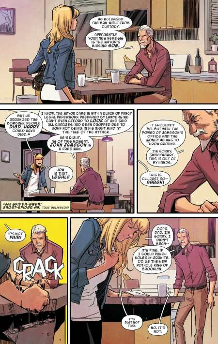 Ghost-Spider 2 Gwen Stacy Learns About Man-Wolf Status Quo