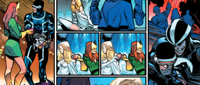 Jean Grey and Emma Frost Share a Beer