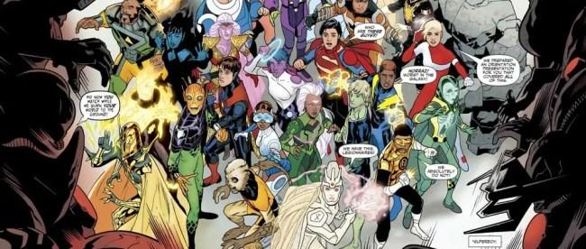 Brian Bendis Legion Of Super-Heroes Full Team