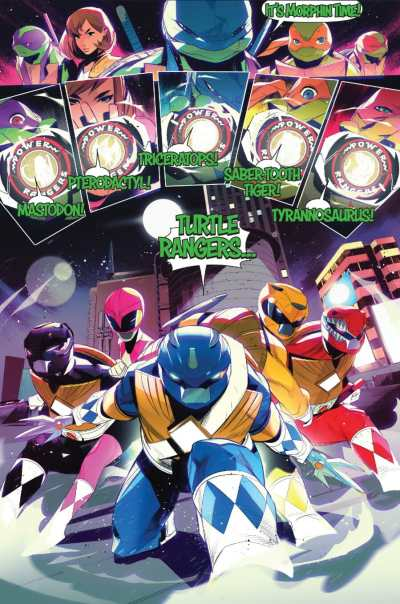 Mighty Morphin Power Rangers/Teenage Mutant Ninja Turtles #4 Moment