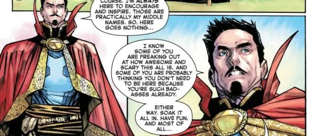 Strange Academy #1 Doctor Strange Speech