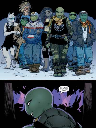 Teenage Mutant Ninja Turtles #104 Moment