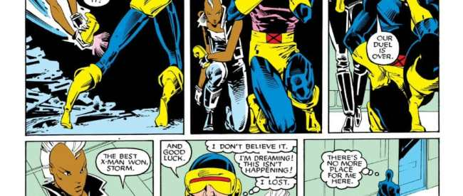 Uncanny X-Men 201 Cyclops vs Storm