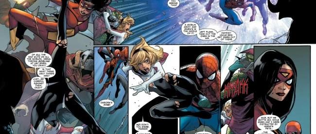 Amazing Spider-Man 14 Spider-Gwen Defeats Green Goblin Spider-Verse