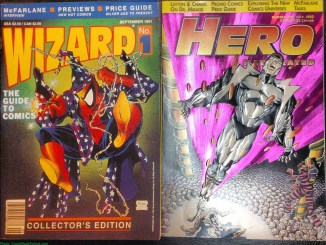 Wizard cover and Hero Illustrated cover