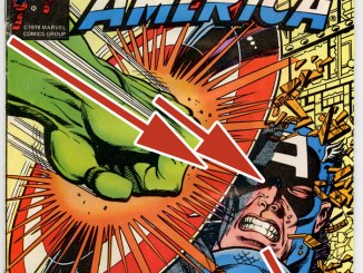Arrows on Captain America cover.