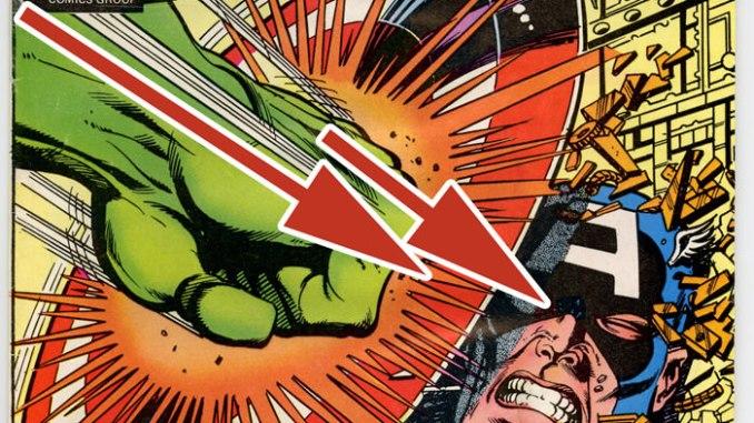 Arrows on Captain America cover.