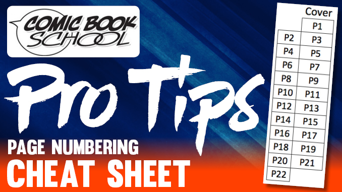 Pro Tips Page Numbering Graphic
