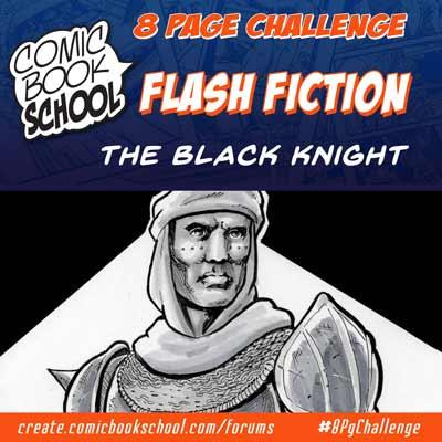 The Black Knight Flash Fiction header image