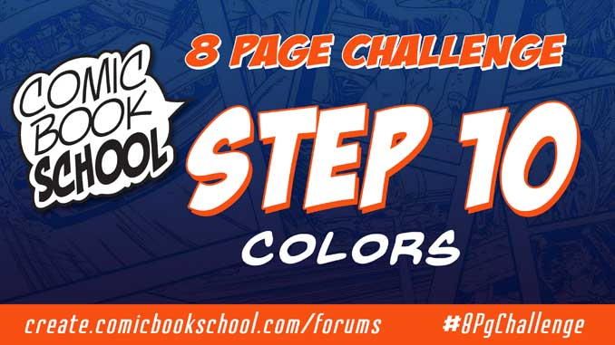 Header for Step 10 Colors 8 Page Challenge