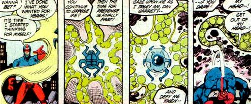 Le vrai visage de l'extra-terrestre habitant le scarabée...
