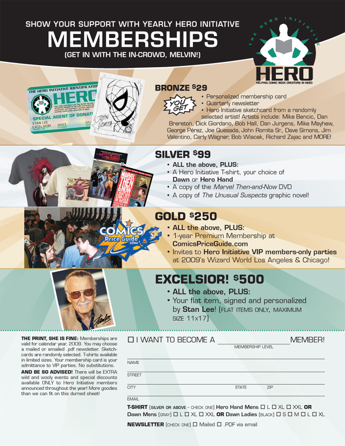 Hero Initiative Memberships are now available