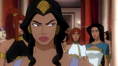 """Voicing Hippolyta in """"Wonder Woman"""" DVD"""