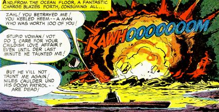 Les héros morts dans l'explosion, leurs adversaires peuvent s'enfuir sans être inquiétés. Une révolution par rapport à la moralité imposée à l'époque par le Comics Code...