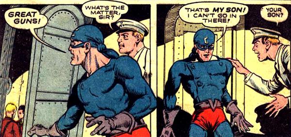 Captain Commando obsédé par l'idée de cacher son identité à son fils...