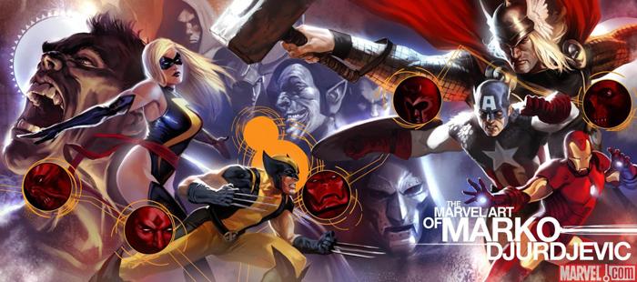 The Marvel Art of Marko Djurdjevic HC Cover Unveiled!
