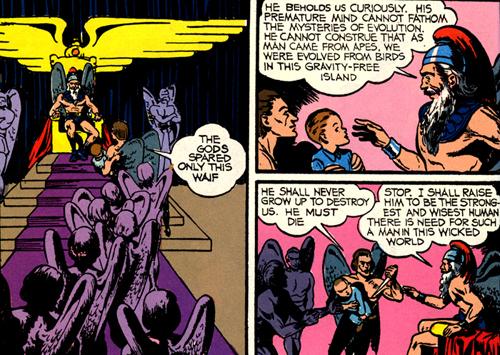 Le roi des Bird-Men est un véritable clone de Vultan, le roi des Hawkmen dans Flash Gordon