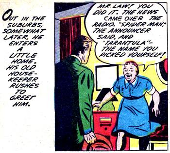 """La case """"historique"""" où le terme de Spider Man est prononcé..."""