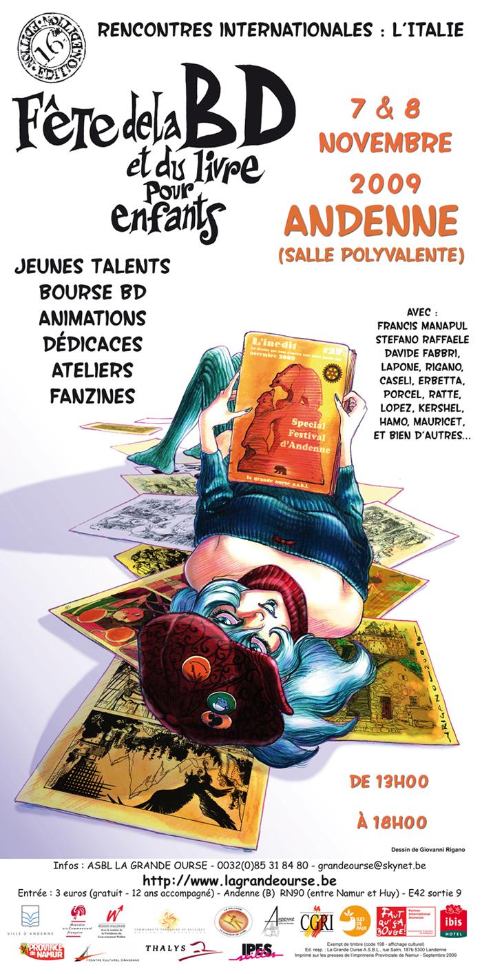 16ème Fête de la BD à Andenne (Belgique)