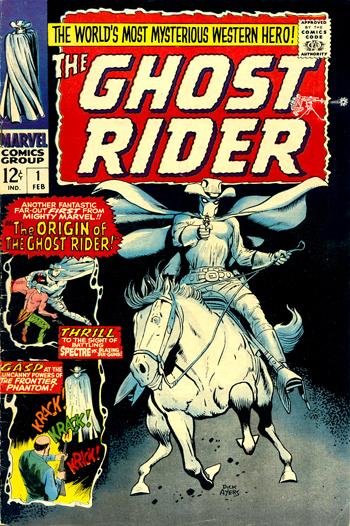 En 1967, le Ghost Rider am�ricain revient, mais ce n'est plus Rex Fury sous la cagoule...