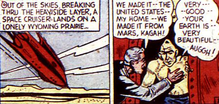 Le savant et son éphèmère assistant martien...