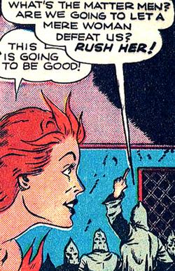 Et quand en plus l'adversaire est sexiste, Wildfire y trouve une raison de plus de lui donner une correction...