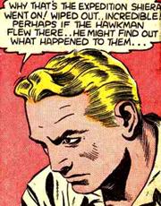 Carter Hall sans son masque est un sosie de Flash Gordon, même au niveau du style. La vignette pourrait aussi bien sortir de l'univers d'Alex Raymond.