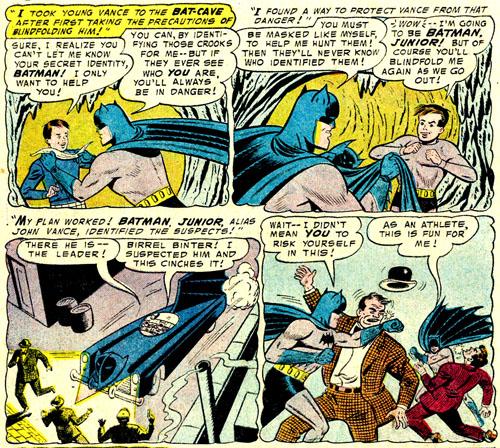Le jeune John Vance à l'époque où il devint... Batman Junior !